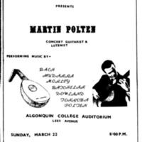 Poster March 22, 1970 Martin Polten