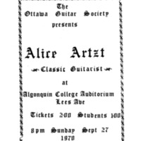 September 27, 1970 Alice Artzt