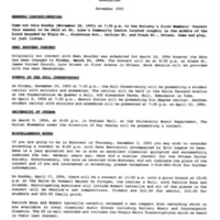 Newsletter November 1993
